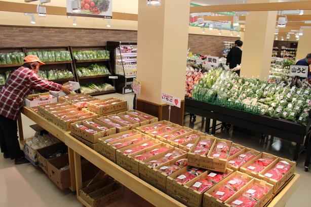旬の野菜や果物を取り揃えています